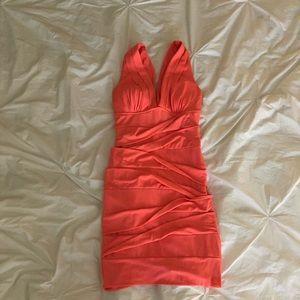 Coral Pink Mini Dress